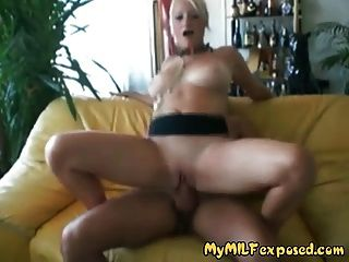 My Milf Exposed  Blonde Amateur Milf Fucking Her Boytoy