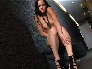 Small Titted Jo In Tan Stockings