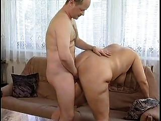 Chubby Brunette  Eats A Cock And Fucks After