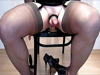 Fucking My Dildo On A Chair...