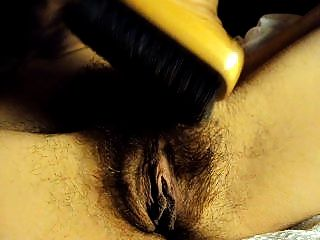 My Wife Brushes Her Hairy Pussy