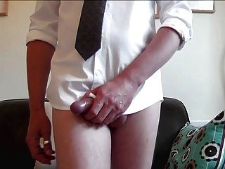 Smart White Shirt, Strip, Stroke And Squirt Squirt Squirt