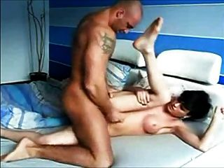Beautiful White Shemale Gets Fucked