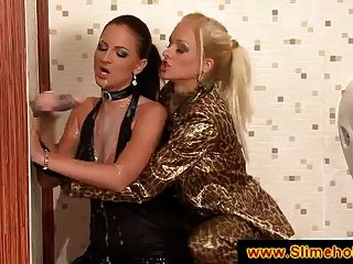 Two Sluts At The Gloryhole