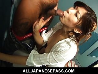 Gorgeous Japanese Milf Enjoys A Young Cock