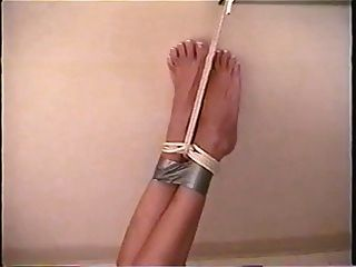Hott Blonde Tied Up With Duct Tape Gag