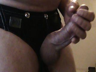 Stripping And Stroking Nice Big Cumshot