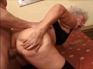 Granny With Saggy Boobs & Sweet Yummy Hairy Cunt!