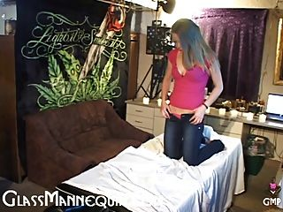 Cute Blonde Teen Gives An Old Man A Massage And A Blowjob