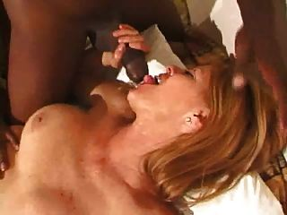 Hot Milf Enjoys An Interracial Gangbang Session