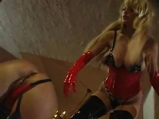 Mistress Taylor Wane Straps On Slave