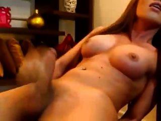 Travesti Se Masturbando