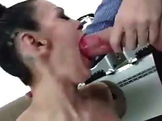 Angelina Valentine Sucks Huge White Cock