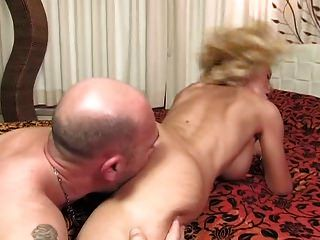 Evita Pozzi - Guy Fucks Busty Blonde In Bed