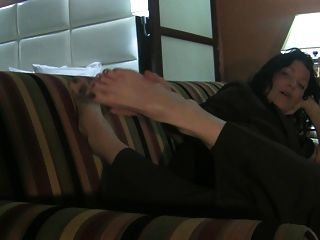 Big Milf Feet On The Couch