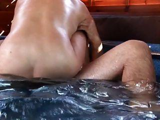 Busty Shorthair-milf Fucked In Pool