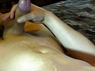 Shaved Cock Cumming In Closeup - Cumshot 2