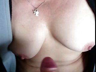 #homemademature - Cute Mom Gives Hj & Cumshot On Tits
