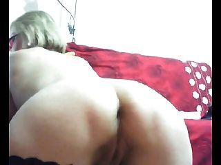 Webcam Milf Sticks A Corn Shaped Dildo In Her Gaping Ass!