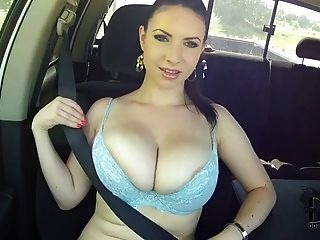 Karina Hart Big Boobs In Car