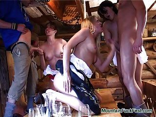 Mountain Fuck Fest Hard Orgy With Sexy Babes Bandged