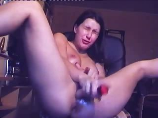 Great Audio As She Squirts From Using A Dildo