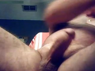 Dad Watching Porn And Milking His Thick Cock