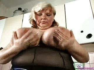 Chubby Babe With Huge Breasts Squizing And Teasing