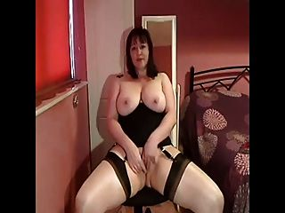 Busty British Milf Cums On Cam