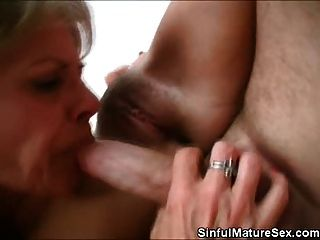 Horny Mature Honeys Taking Turns On That Hard Cock
