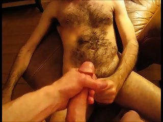 Double Cumshot With Thick-dicked Hairy Otter