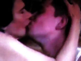 Granny Kissing A Young Lad