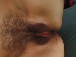 Brunette Mom With Very Hairy Cunt & Guy