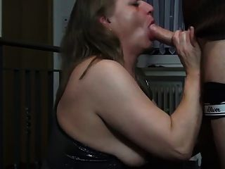 Slutty German Mature In Leather And Boots Anal Creampie
