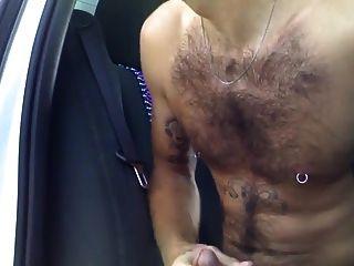 Horny Hunks In Car 3