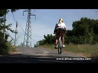 Nude In Public And Dirty Biking