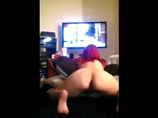 naked bitch playing xbox