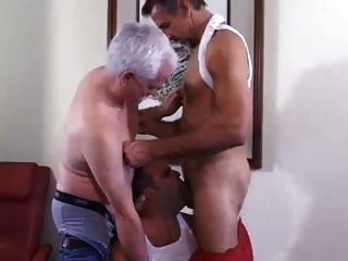 Mature Threesome Fucking Hard In A Motel.