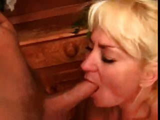 Fat Blonde Granny Blowjob