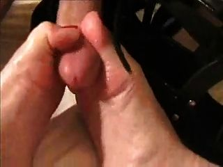 Blonde Gives Shoejob & Licks Cum From Toes & Shoes
