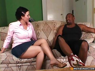 Milf Takes Interracial Fucking
