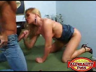 This Blonde Squirts A Little...