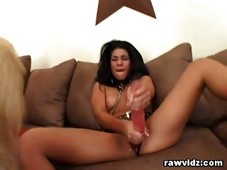 Rough Lesbian Strap On Sex