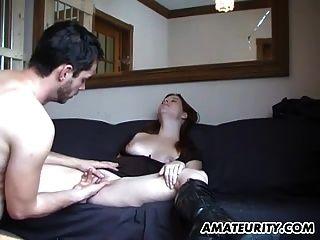 Hot Amateur Teen Sucks And Fucks With Cum On Ass