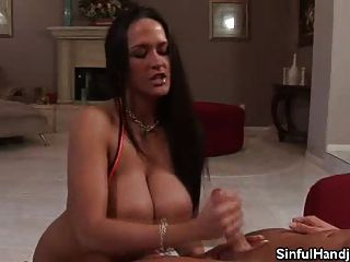 Carmella Bing Tugs Hard For Cum
