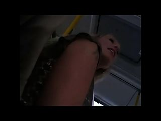 Pretty Blonde With Nice Pussy And Boobs In Bus