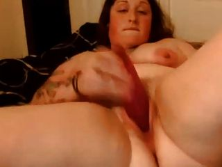Bbw With Tits And Tats Fucks Pussy With Toy