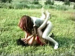 Mature Skank Outdoor Catfight