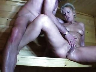 A Couple, Fucks In Sauna