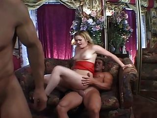 Horny Blonde Milf Fucked Threesome...usb
